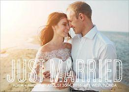 Outline Photo Wedding Announcement