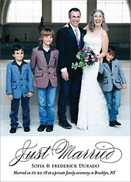 Script Photo Wedding Announcement