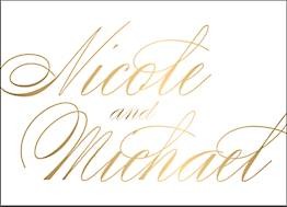 All Foil Calligraphy Stationery
