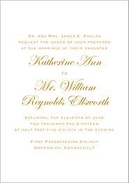All Foil Classic Script Wedding Invitation