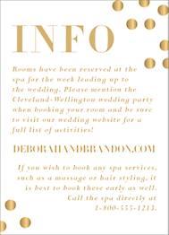 All Foil Confetti Wedding Information Card