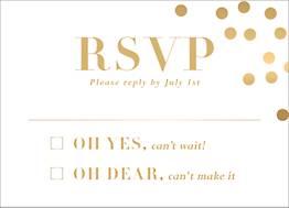 All Foil Confetti Wedding Response Card