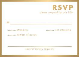 All Foil Ampersand Wedding Response Card