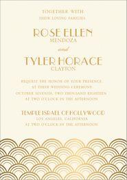 All Foil Scallops Wedding Invitation