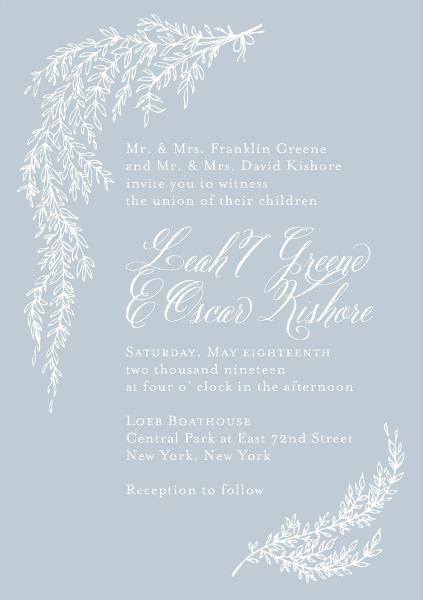 Arboretum Wedding Invitation