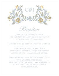 Gold Foil Stamped Topiary Information Card