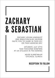 Metropolitan Wedding Invitation