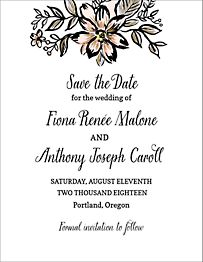 Gold Foil Stamped Golden Blooms Save the Date Card