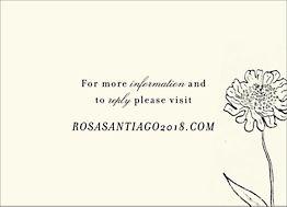 Wildflower Wedding Response Card