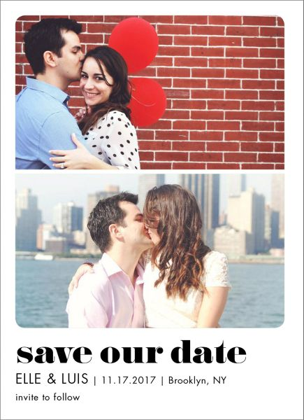 Save Our Date Multi Photo Save the Date Card