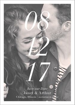 Stacked Date Photo Save the Date Card