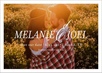 Centered Photo Save the Date Card
