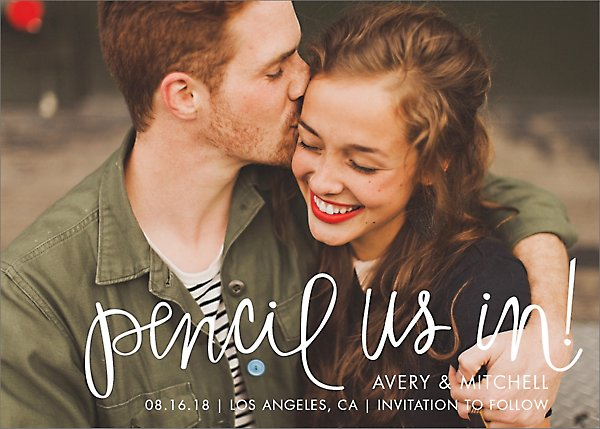 Pencil Us In Photo Save the Date Card