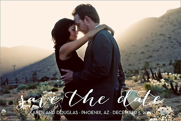Bombshell Photo Save the Date Postcard