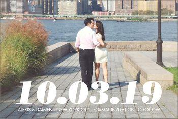 Big Date Photo Save the Date Postcard