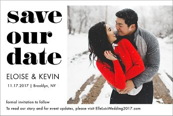 Save Our Date Photo Save the Date Postcard