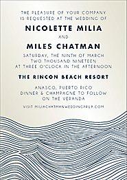 Waves Shimmer Wedding Invitation