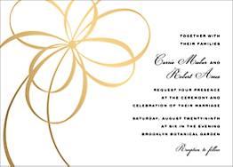 Belle Boulevard Foil Wedding Invitation
