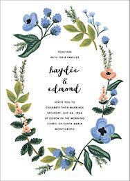 August Herbarium Wedding Invitation