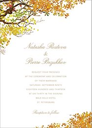Autumn Boughs Wedding Invitation