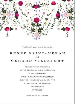 Damascena Wedding Invitation