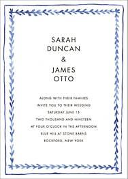 Branch Border Wedding Invitation