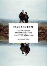Center Cut Out Save The Date