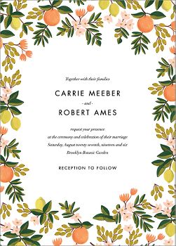 Citrus Orchard Wedding Invitation