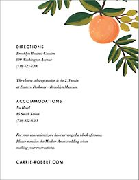 Citrus Orchard  Information Card
