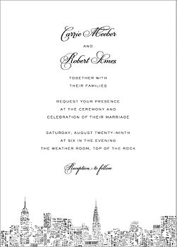 City Lights II Wedding Invitation