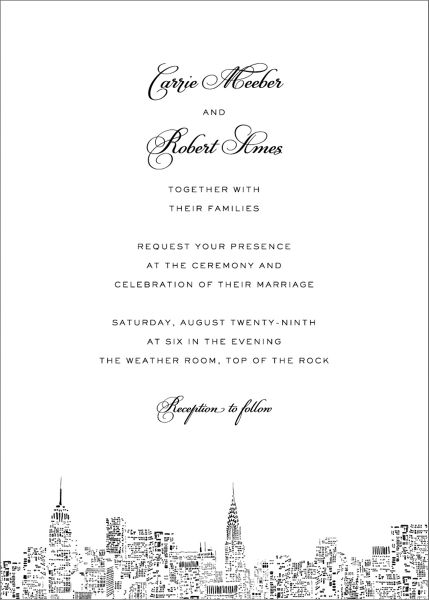 City Lights II Wedding Invitation
