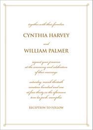 Double Loop Frame I Wedding Invitation