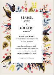 Egret Garden Wedding Invitation