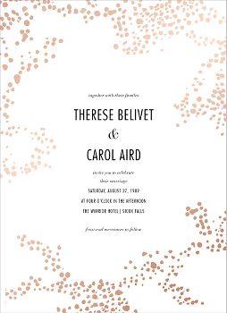Evoke Foil Wedding Invitation
