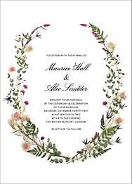 Fleurs Sauvages Wedding Invitation