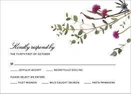 Fleurs Sauvages Response Card