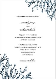 Custom wedding invitations paper source forsythia tall wedding invitation stopboris Image collections