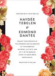 Garden Floral Ikat Wedding Invitation