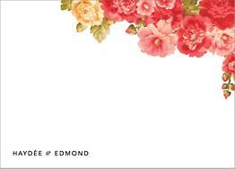 Garden Floral Ikat Stationery