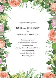Gramercy Garden Wedding Invitation