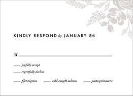 Heather and Lace Response Card