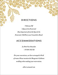 Heather and Lace Information Card