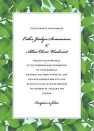 Hedge Wedding Invitation