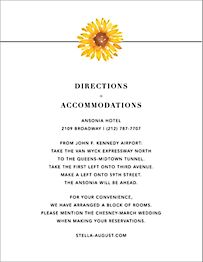 Heirloom  Information Card
