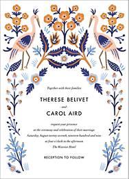 Heron Heralds Wedding Invitation