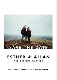 Horizontal Photo on Tall Save The Date
