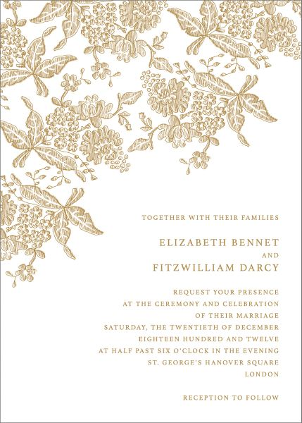 Hydrangea Lace II Wedding Invitation