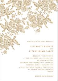 Hydrangea Lace II Wedding Invitation