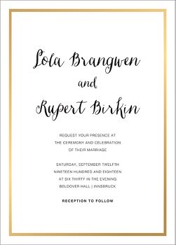 Idylle Foil Wedding Invitation