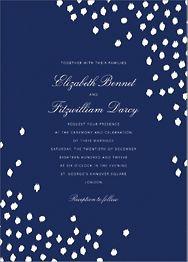 Ikat Dot Wedding Invitation